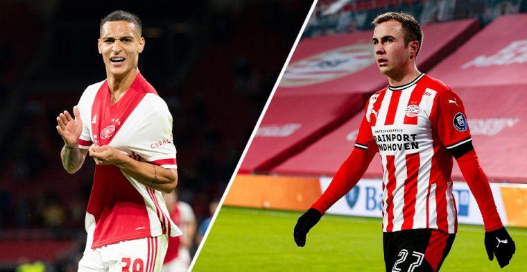 Subtoppers richten schade aan en een doelsaldo-kloof: de cijfers van Ajax en PSV