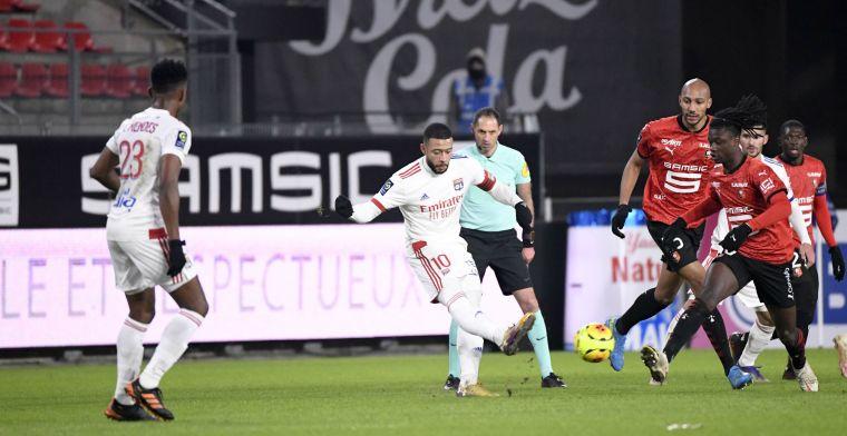 Averij voor Lyon, ondanks comeback met goal en assist van Memphis