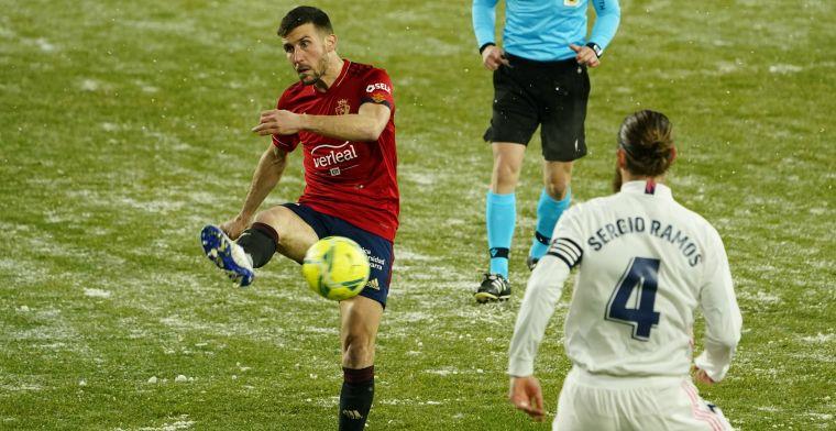 Real Madrid laat punten liggen na verstoorde voorbereiding in besneeuwd Spanje