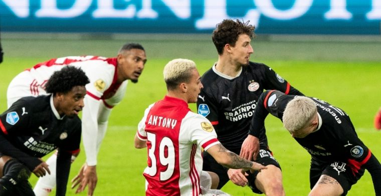 Ajax en PSV op rapport: in totaal vier onvoldoendes na razend spannende topper