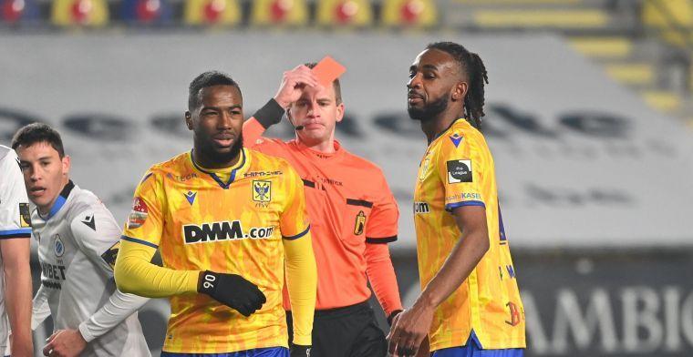 UPDATE: STVV aanvaardt straf na rode kaart tegen Club Brugge