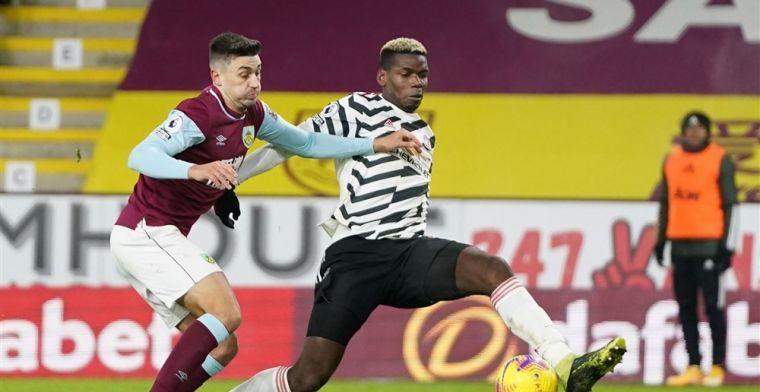 United grijpt koppositie na veldslag op Turf Moor, volley van Pogba is voldoende