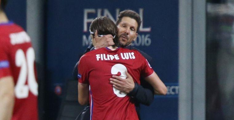 Filipe Luís kaart zwakte Simeone aan: 'Is voor hem niet gemakkelijk'