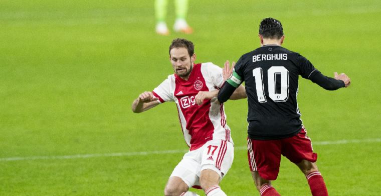 'Feyenoord heeft het goed gedaan, maar de drie punten blijven in Amsterdam'
