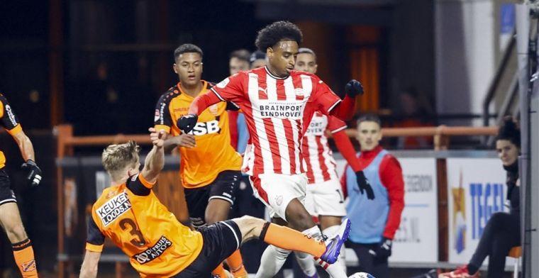 PSV wordt in leven gelaten door Volendam en meldt zich bij de laatste acht