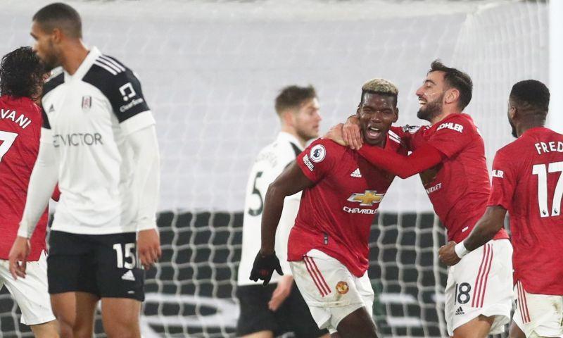 Afbeelding: Pogba bevrijdt Man United op Craven Cottage: Man City na twee uur weer van kop af