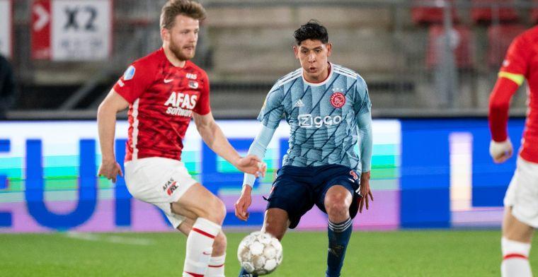 Ajax boft met buitenspelgoal en niet gegeven penalty: 'Honderd procent, heel raar'