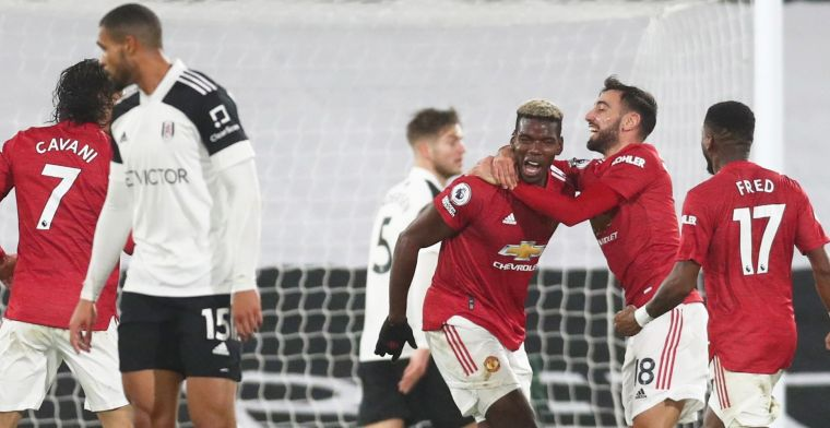 Pogba bevrijdt Man United op Craven Cottage: Man City na twee uur weer van kop af