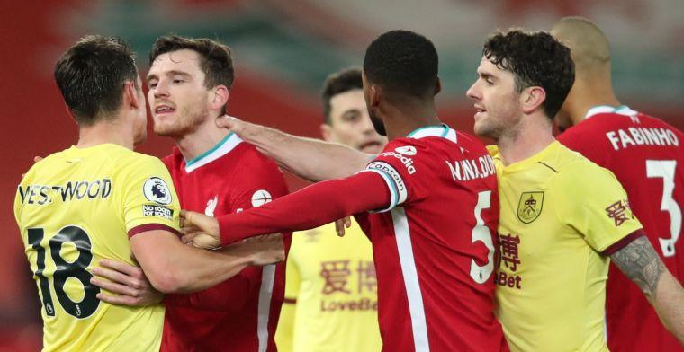 Dolend Liverpool kan wéér niet scoren en laat zich thuis verrassen door Burnley