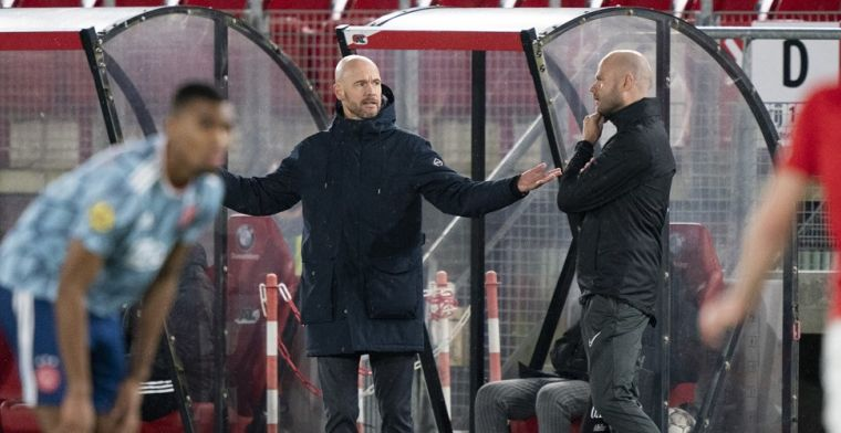 Ten Hag reageert op 'knipbeurt' na Ajax-treffer: 'Dat heb ik ze net verteld'