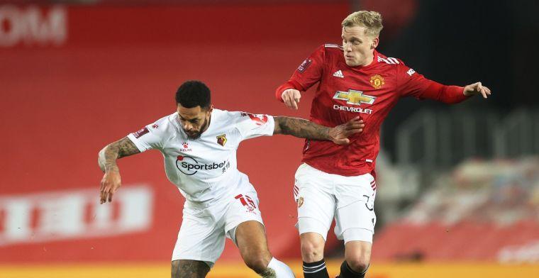 'Van de Beek blijft bij Manchester United, vertrek op huurbasis uitgesloten'