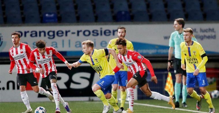 Cambuur roept slechte serie een halt toe tegen PSV-talenten en blijft koploper