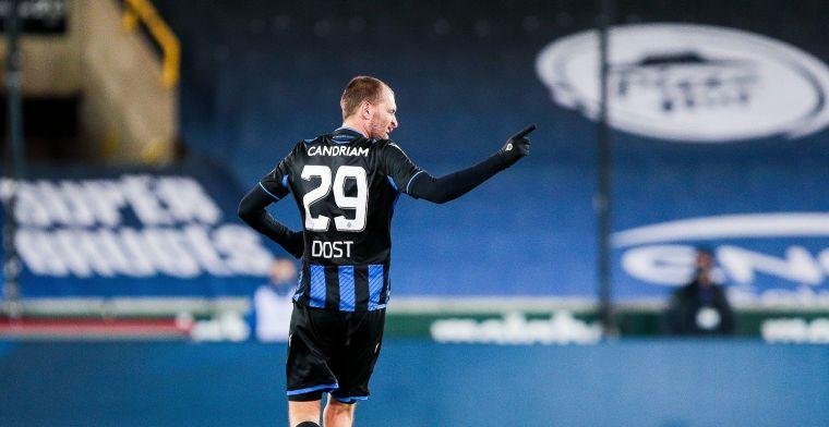Dost zorgt voor een unieke prestatie in het shirt van Club Brugge