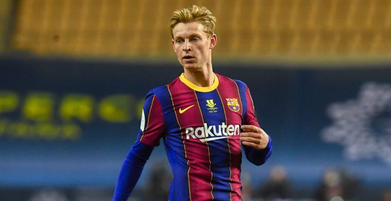 FC Barcelona pakt een zuinige zege met veel dank aan De Jong