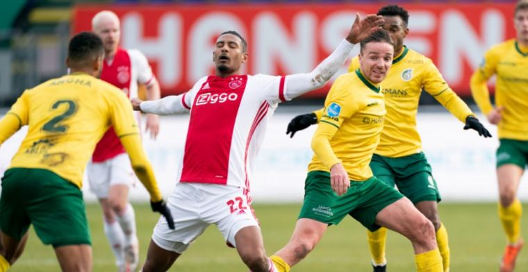 LIVE: Ajax mist kans na kans, Fortuna met tien man na rode kaart (gesloten)