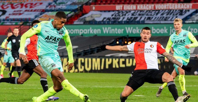 5 is ondergrens in vermakelijke topper Feyenoord-AZ: zestal scoort onvoldoende