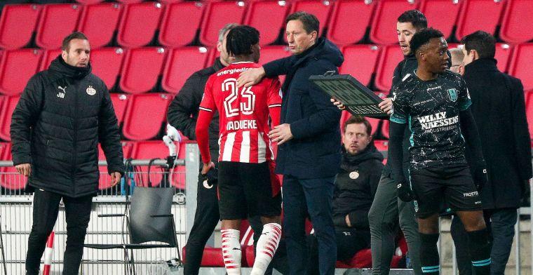 Schmidt verrast bij PSV: 'We wilden hem stoppen, was misschien eerste keer'