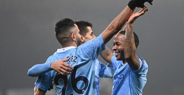 Manchester City kent geen genade en is in ieder geval een dag koploper