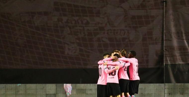Barcelona toch naar de laatste acht na cruciaal doelpunt van De Jong
