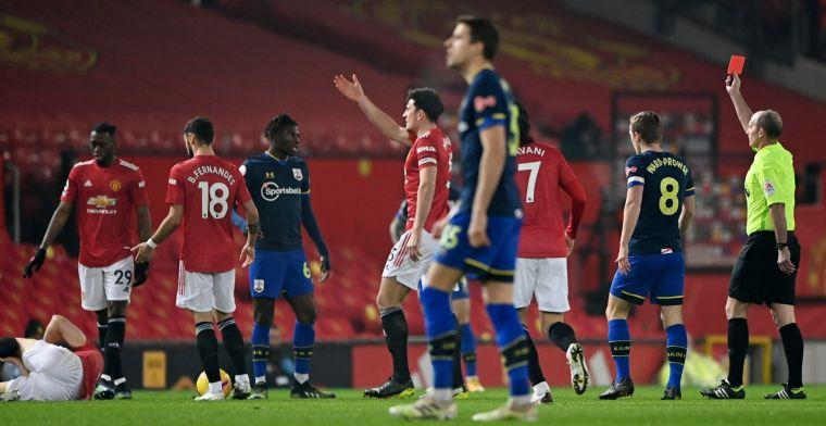 United vernedert Southampton, dat met 9 eindigde, en wint met 9-0 (!)