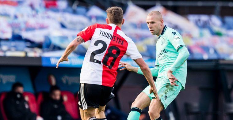 Van Beek verliest dik bij werkgever Feyenoord: 'Zou hier geen minuten meer maken'