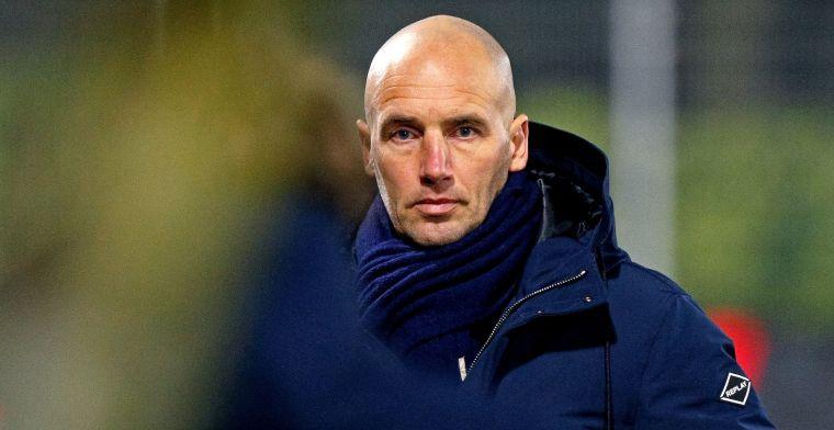 Van der Gaag niet blij met Jong Ajax: 'Het is op een gegeven moment ook klaar'