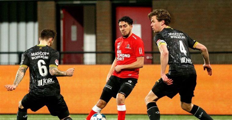 Roda dankt Feyenoord-huurling en pakt in extremis drie punten in Helmond