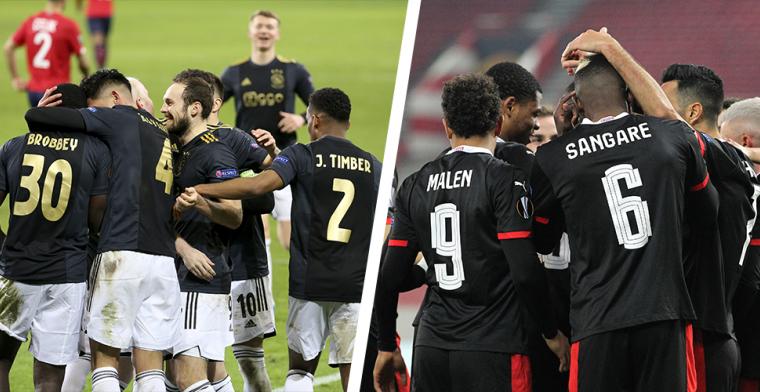 Ajax én PSV favoriet voor belangrijke overwinning in Europa League