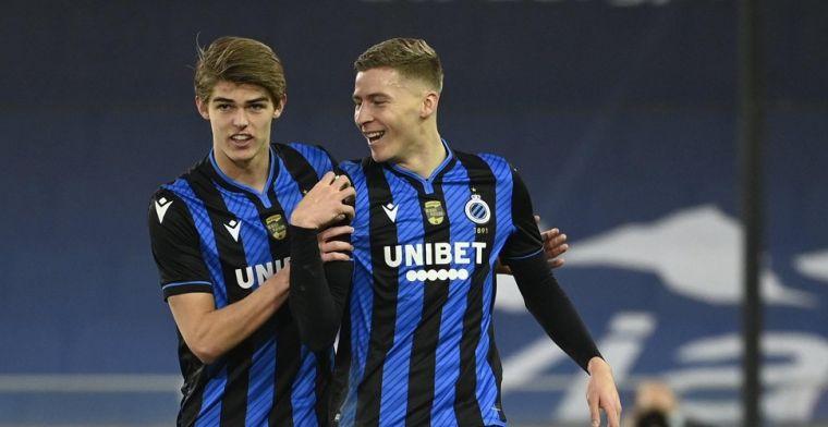 Van der Brempt opent de score voor Club Brugge: 'In Youth we Trust!'