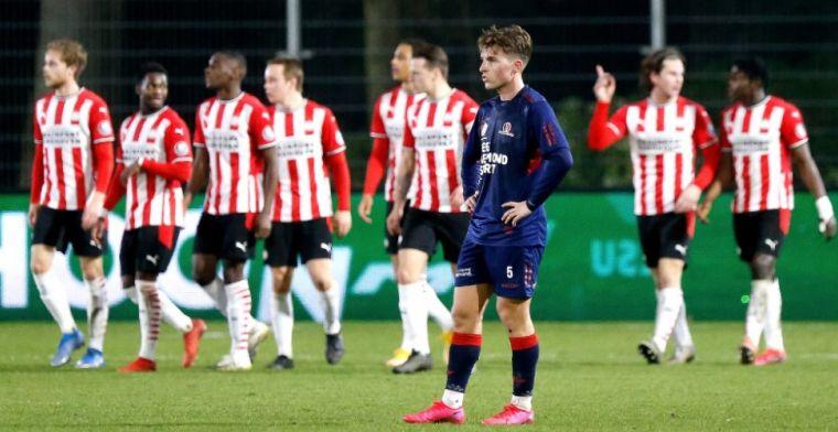 Jong PSV en Helmond in evenwicht, Jong Ajax geeft winst uit handen na bizar slot