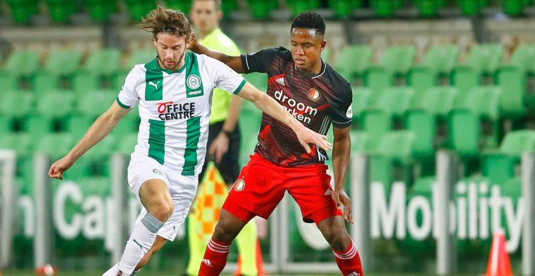 Paal en lat voorkomen broodnodige zege Feyenoord bij FC Groningen