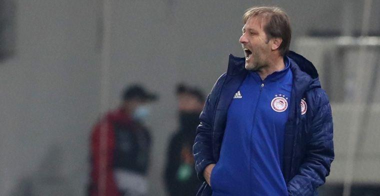 Olympiakos-trainer spreekt Schmidt (PSV) tegen: Totaal niet mee eens