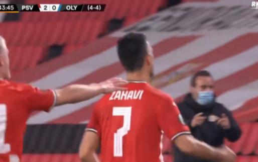 Zo dan: Zahavi schiet PSV virtueel naar volgende ronde met vrije trap