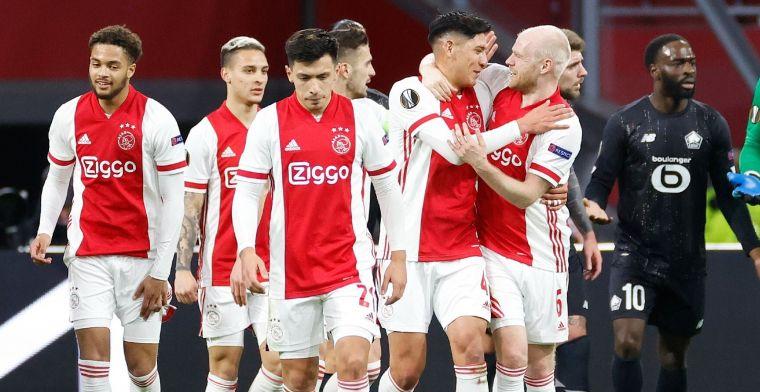 Neres kopt Ajax naar volgende ronde Europa League na zenuwslopend slot
