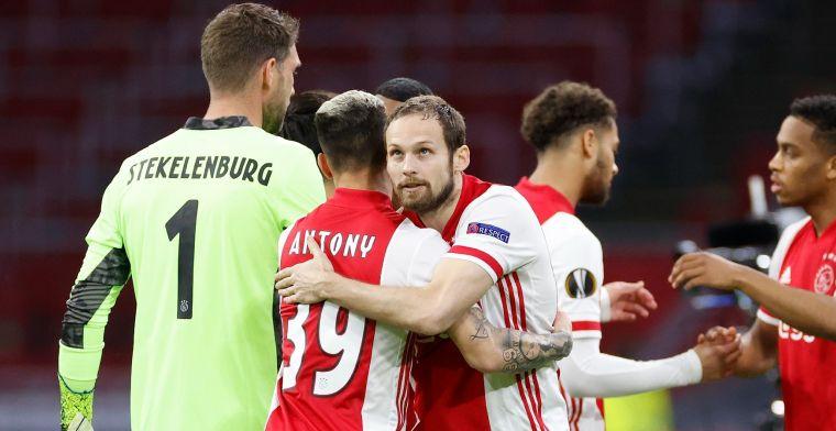 Blind lacht na moment met Botman, in aanloop naar Ajax-goal: 'Vaak in gym geweest'