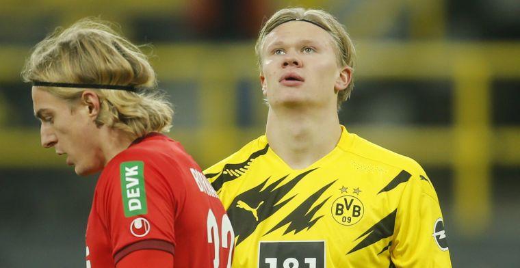 Dortmund reageert op stevige Haaland-teksten van Raiola: 'Moet je soms zeggen'