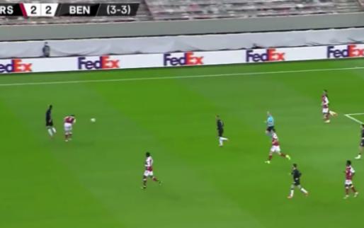 Arsenal-linksback Tierney ontploft na opzichtige schwalbe Benfica-invaller