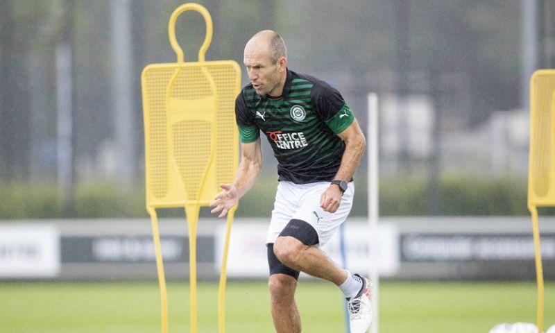 Afbeelding: Weer kleine stap voorwaarts voor Robben: 'Ging hij slidings maken bij de rondo'