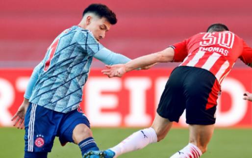 Ajax ontsnapt aan rood tegen PSV: 'Schandelijk, ik vind het echt schandelijk'