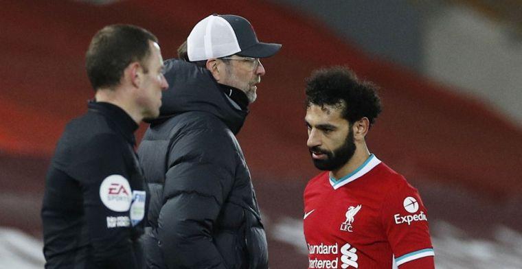 'Klopp ging tekeer tegen Salah voor wissel, Egyptenaar boos'