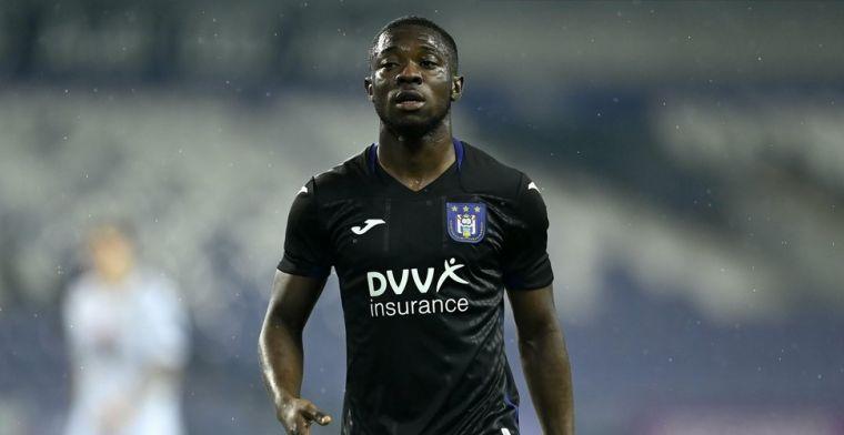 'Amuzu (Anderlecht) speelt zich ook in de kijker van Internazionale'