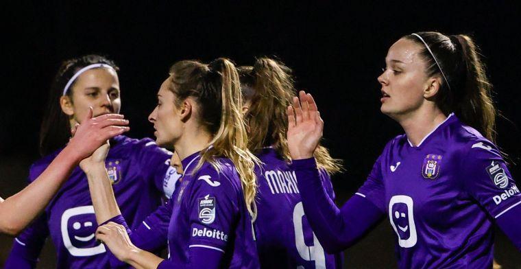 Dames van Anderlecht razen door de competitie, ditmaal Club Brugge afgedroogd