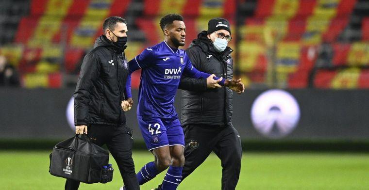 Anderlecht met zorgen naar Genk: Delcroix en Lawrence vallen geblesseerd uit