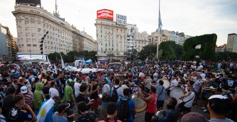 Argentijnen massaal de straat op voor Maradona: 'Hij is vermoord'