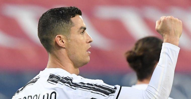 Ronaldo sluit horrorweek Juventus af met perfecte hattrick op Sardinië
