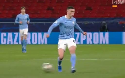Imponerend hogeschoolvoetbal van Manchester City: no look-assist van Foden