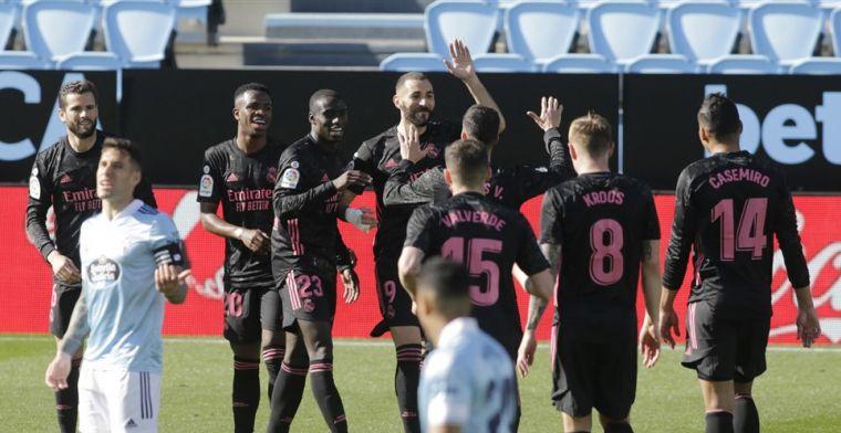 Real Madrid passeert Barcelona: Benzema de gevierde man tegen Celta
