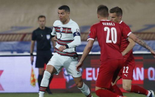 Afbeelding: Ronaldo en Portugal winnen niet van het Servië van Mitrovic (ex-Anderlecht)