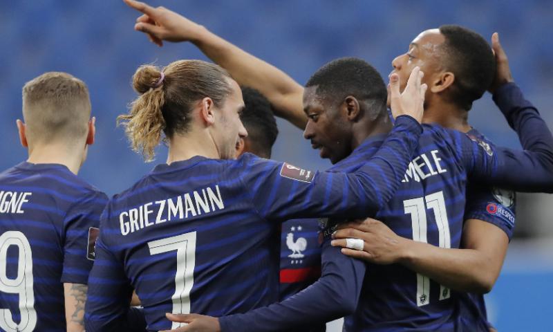 Afbeelding: Frankrijk imponeert niet in WK-kwalificatie, maar pakt wel eerste zege