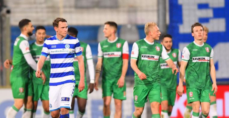 De Graafschap zakt door het ijs tegen FC Dordrecht, nieuwe zege voor Cambuur